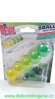 Dr.Devil Natur Fresh BiColor 5ball WC závěs 35g