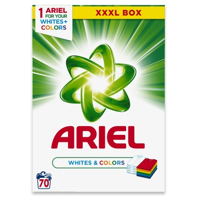 Ariel XXXL Whites and Colour 70dávek 5,25kg